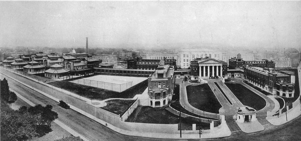 Image: Panoramic view of PBBH's campus circa 1914.